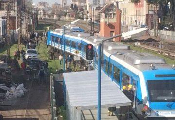 Descarriló un tren del Sarmiento en Liniers