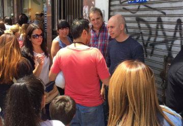 Horacio Rodríguez Larreta recorrió el Barrio de Flores