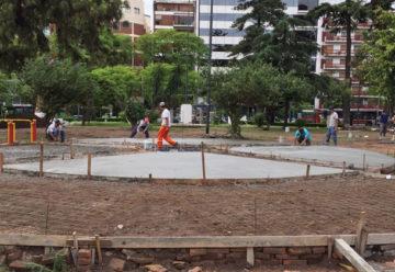 Avanzan las obras en Plaza Misericordia