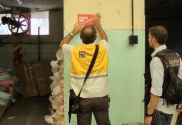 Inspectores realizaron operativo en una galería de Caballito