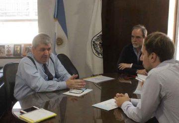 Reunión entre funcionarios de la ciudad y la localidad de Pinamar
