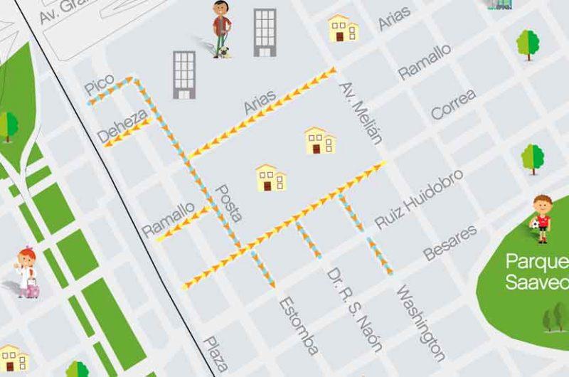 Cambian de sentido 9 calles del barrio de Saavedra