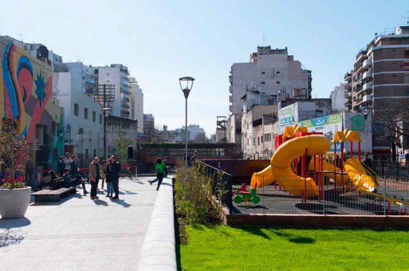 Inauguran un nuevo Parque Lineal en Almagro