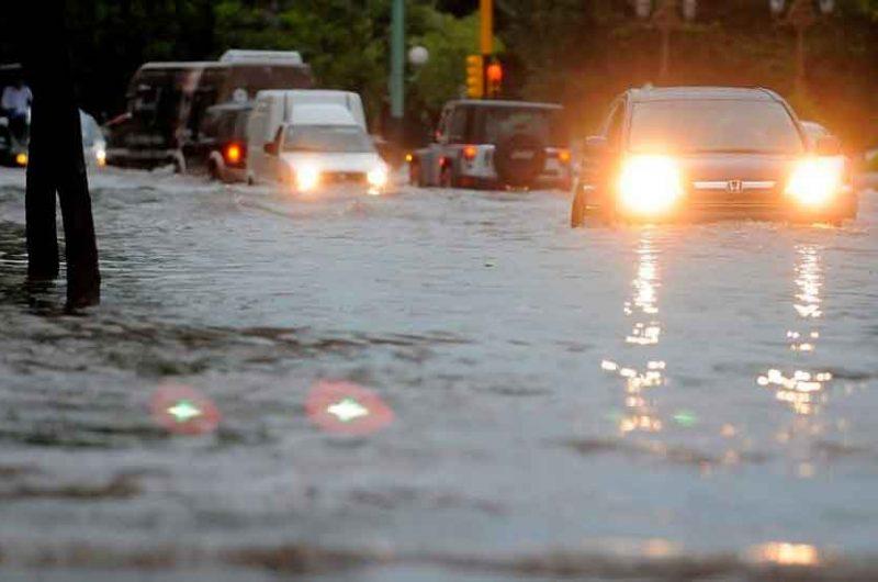 Se registraron gran cantidad de calles inundadas