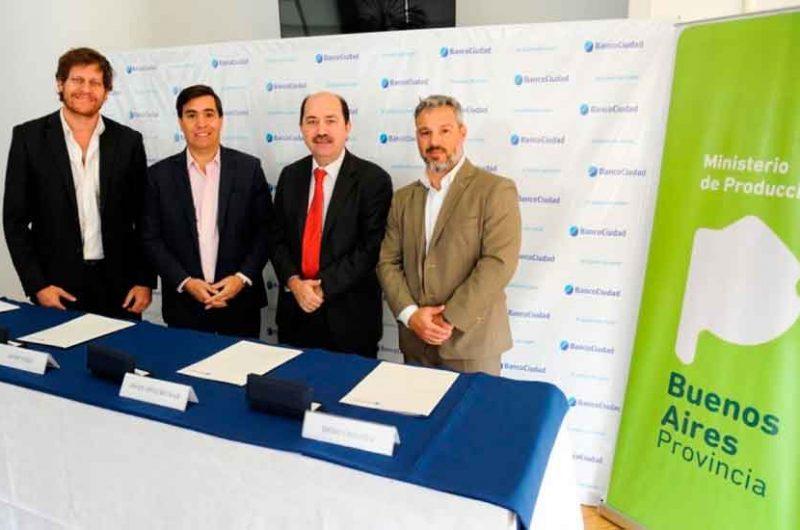 Acuerdo entre el Banco Ciudad y Producción Bonaerense