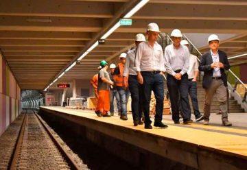Larreta recorrió las obras de las nuevas estaciones de la Línea E