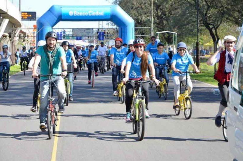 Nueva bicicleteadaorganizada por el Banco Ciudad