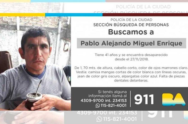 Búsqueda de persona –Pablo Alejandro Miguel Enrique