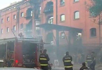 Se incendió un restaurante en Puerto Madero