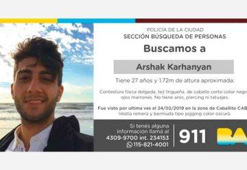 Arshak Karhanyan – Búsqueda de persona