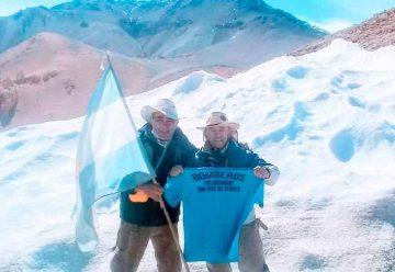 Bombero voluntario de Flores cruzó los Andes