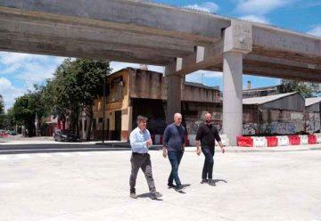 Abren calles y Avanzan las obras del Viaducto San Martín