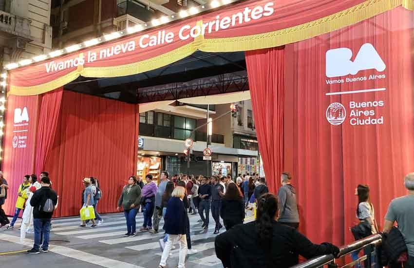 Inauguración de la Nueva avenida Corrientes