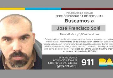 Búsqueda de persona – Solá José Francisco