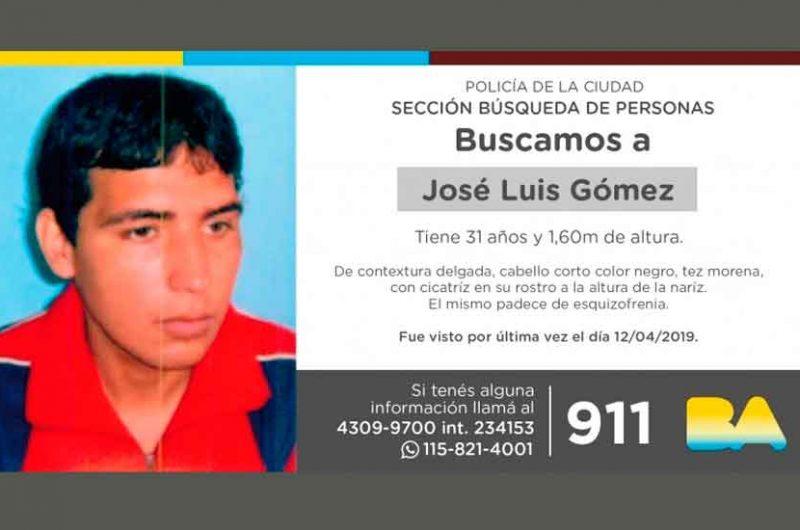 Búsqueda de persona – José Luis Gómez