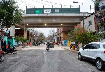 Viaducto San Martín: Se realizo la apertura de la calle Castillo