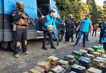 Jornada de destrucción de drogas secuestradas por la Policía