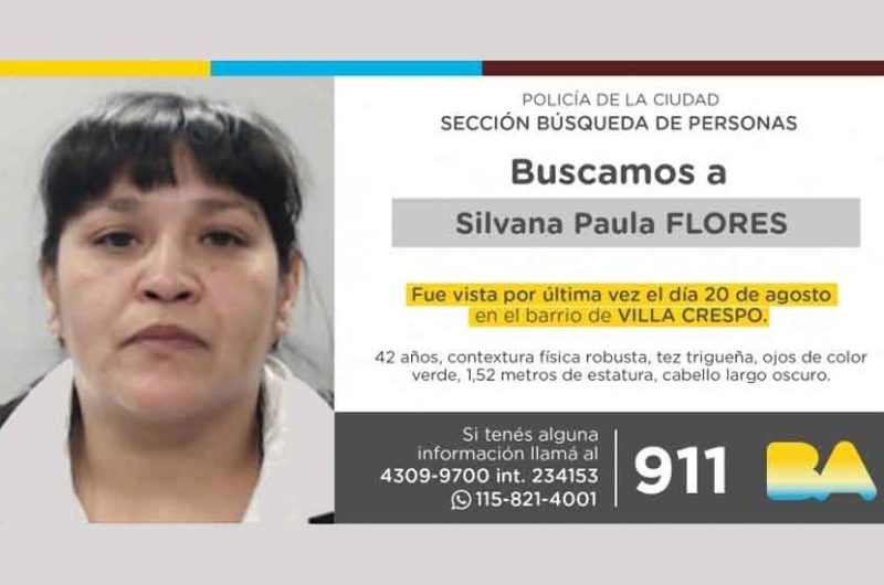 Búsqueda de persona – Silvana Paula Flores