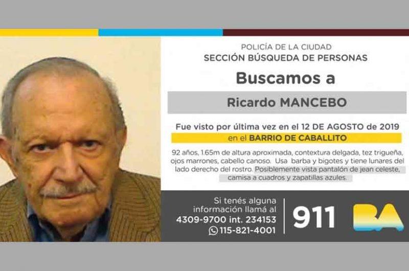 Búsqueda de persona – Ricardo Mancebo