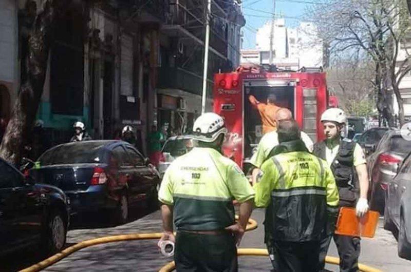 Un nene de tres años murió en un incendio de un hotel