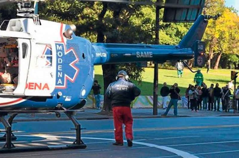 El SAME inauguró los vuelos nocturnos con helicópteros