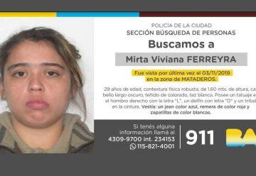 Búsqueda de persona - Mirta Viviana Ferreyra