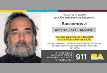 Búsqueda de persona - Alberto José Lanzani