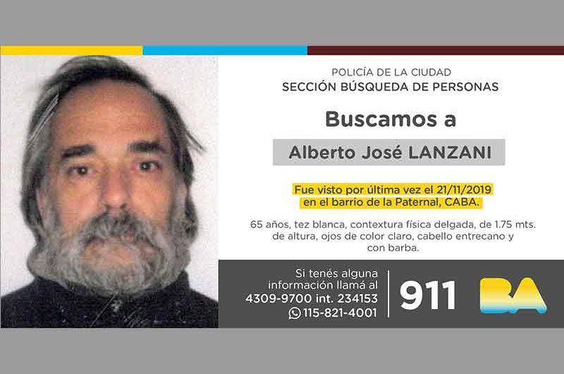 Búsqueda de persona – Alberto José Lanzani