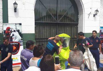 Bomberos capacitó al personal del Hospital Piñero