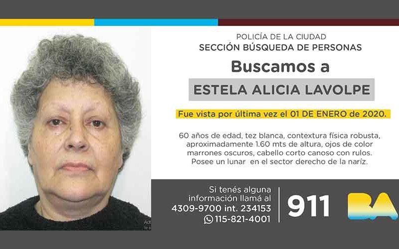 Búsqueda de persona – Estela Alicia Lavolpe
