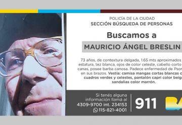 Búsqueda de persona - Mauricio Ángel Breslin