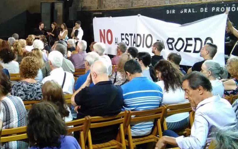 Vecinos se manifestaron en contra del nuevo estadio de San Lorenzo