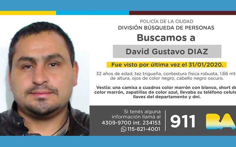 Búsqueda de persona – David Gustavo Díaz
