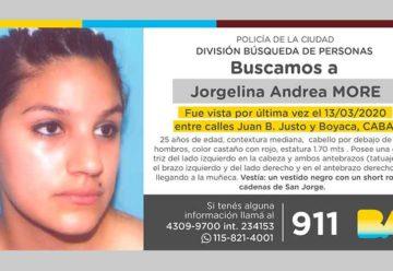 Búsqueda de persona – Jorgelina Andrea More