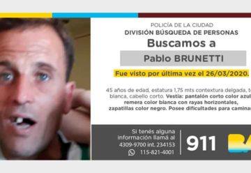 Búsqueda de persona - Pablo Brunetti