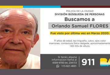Búsqueda de persona - Orlando Samuel Flores
