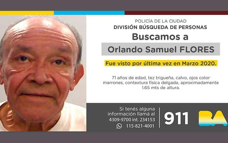 Búsqueda de persona – Orlando Samuel Flores