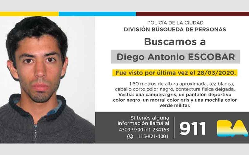 Búsqueda de persona – Diego Antonio Escobar