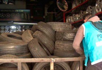 Desbaratan un centro de acopio de ruedas robadas
