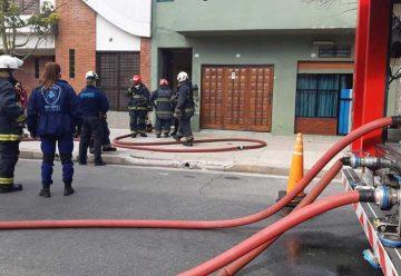 Incendio en una casa de Parque Chacabuco