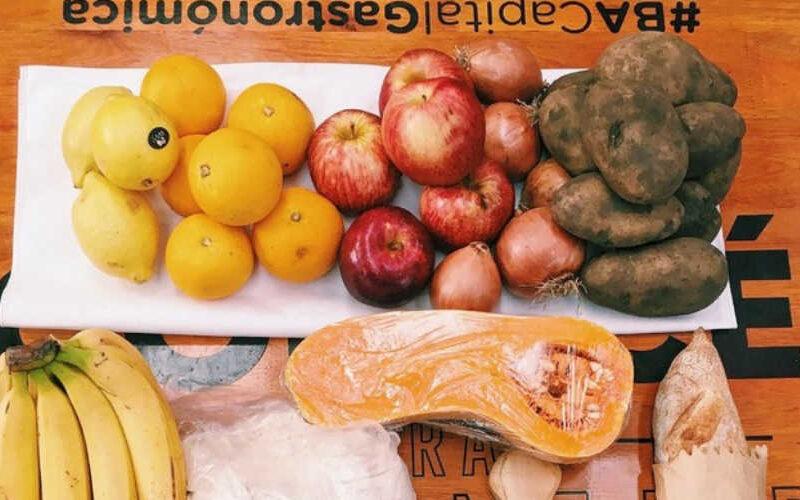 Dónde adquirir bolsones de verduras y canastas de productos frescos.
