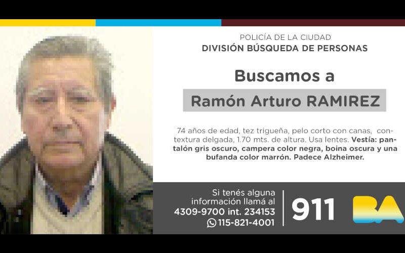Búsqueda de persona: Ramón Arturo Ramírez