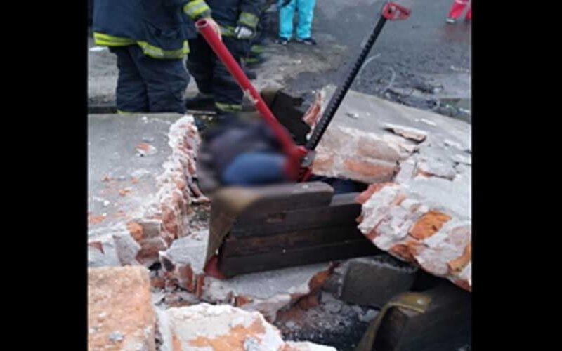 Murió una persona al ser aplastada por un paredón