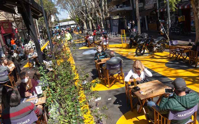Nuevas apertura de Áreas peatonales transitorias