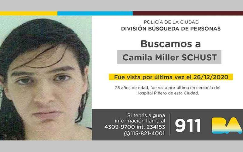 Búsqueda de persona – Camila Miller Schust
