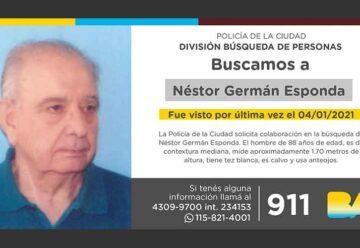 Búsqueda de persona – Néstor Germán Esponda