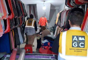 Gran cantidad mercadería ilegal decomisada en Flores