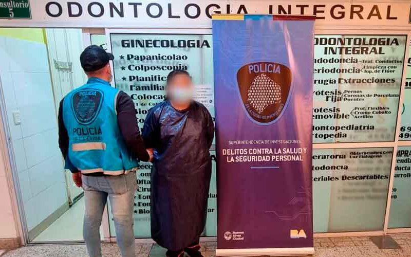 Dos falsos odontólogos fueron detenidos en centro médico