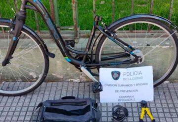 Un roba bicicletas fue detenido en Caballito