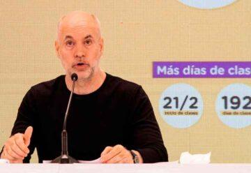 Rodríguez Larreta presentó el calendario escolar 2022